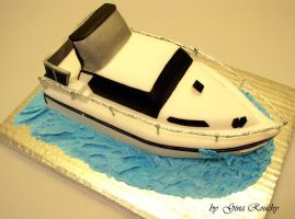 Speedboat Cake by ginas-cakes