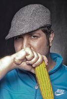 man with corn by ozgerbayer