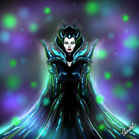 Speed painting of Maleficent by Cherubit