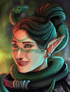 Shadowrun Snake Shaman by fivetinsoldiers