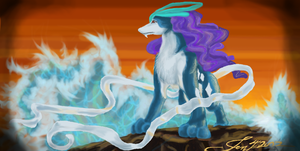 Lightfoot the suicune by BIackFang