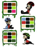 Pitch Bible Color Palette_ The Main Characters by JohnWRoberts