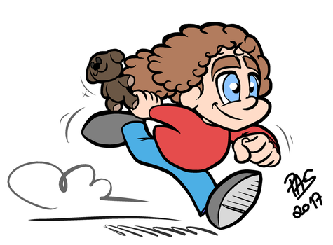Cartoonish Sofia running by pedro-amaral-couto
