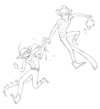 Sketch for 'Bromance FIght' by AtomicRay