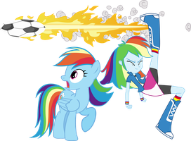 Rainbow Dash And Rainbow dash by Vector-Brony