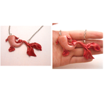One of a kind red fairy mermaid tail necklace by MiniSweetx