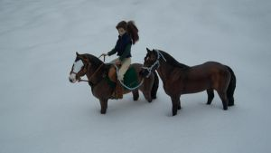 Model Horseies in Snow! by cammyton