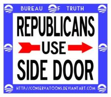 Republicans Use Side Door by Conservatoons