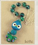 Clay Flurry Peacock by LolleBijoux