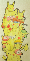 PIKACHU CROSSOVERS by pikarar