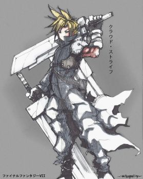 Cloud Strife by NitrogenCity