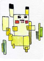 Abstract Pikachu Sketch Card by melllic