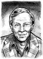 Norman Fell sketch card by dalgoda7