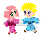 NaruSaku Chibi: Follow Me by MiraiMangaka