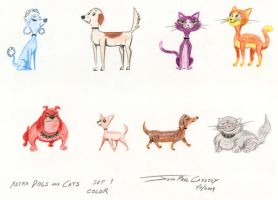 Retro Cats and Dogs 01 by ryuuseipro