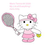 Tennis Hello Kitty by airbornewife71