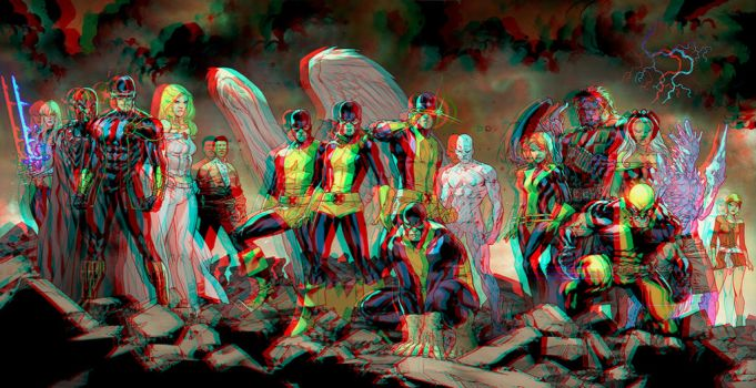 All New Xmen Cover  By Martegracia Relief 3D by Fan2Relief3D