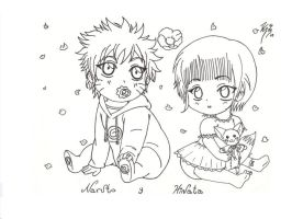 NARUTO AND HINATA BABY'S by SEIROTH