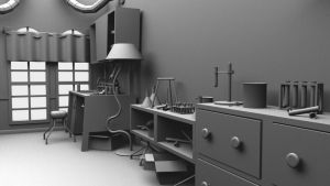The Teleporter, The Laboratory Scene Cam-B by SlotheriuS