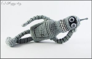 Amigurumi Bender by happyshiz