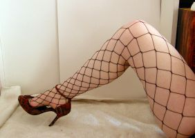 Leg - Fishnet Stock29 by D-is-for-Duck