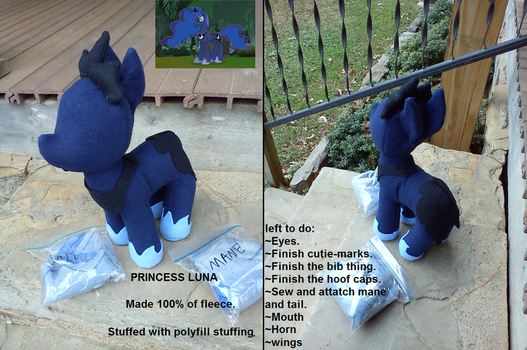 Luna Plush WIP by Who-Butt