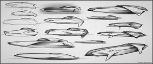 Motor yacht - First sketchs by Vincent-Montreuil