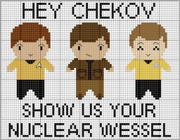 Pavel Chekov Cross Stitch by black-lupin