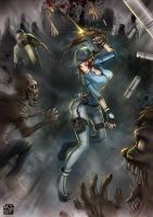 Jill Valentine by Artkeyhoon
