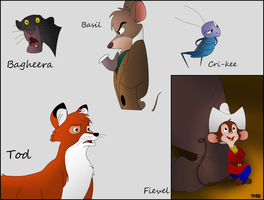 Disney Character Drawings by Toxic-Mario