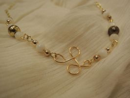 Gold wire and chain necklace by shellsandsoccer