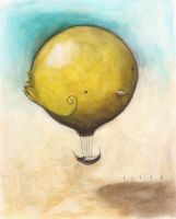 Dream Balloon, Yellow Bird- by SethFitts
