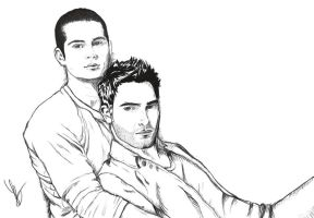 Sterek cuddles by peaceypoo