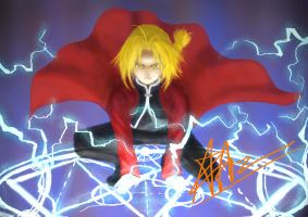 Edward Elric by Cleochrome