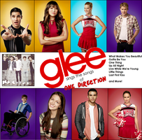 Glee sings the songs of One Direction Album Cover by iluvlouis