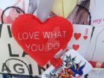 Love What You Do heart home decor plush - FOR SALE by TearsInTheDark