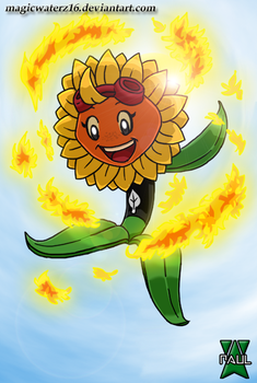 Plants vs. Zombies Heroes- Solar Flare by Magicwaterz16