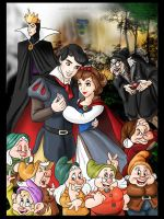 Snow White and the Seven Dwarfs by rebenke