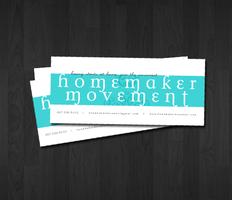 Homemaker Movement Biz Card by cardboardmonet