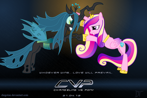 Princess Cadence vs Queen Chrysalis Wallpaper AvP by DiegoTan