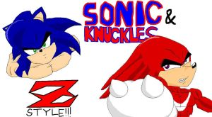 Sonic and Knuckles DBZ style by sonigoku