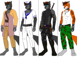 Outfit batch 3 by DexterTheFox
