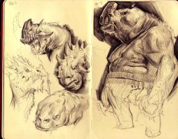 sketchbook page by MikeAzevedo