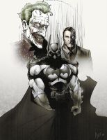 Batman, Joker, Two-Face by antmanx68