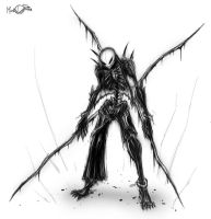 NEGA-HIDE, 2nd sketch by Mark-MrHiDE-Patten