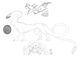 Rattlesnake Dragon Concept-doodle time! by CrystalCircle