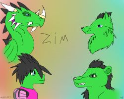side view practice zim by Wolvestorms