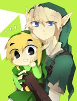 Link and Toon Link by Pikanafe