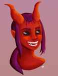 Zuriel the Tiefling by DoodleStruck