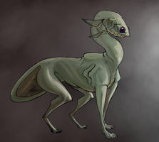 Portrait of a Fish Dog by Glowingskullcap
